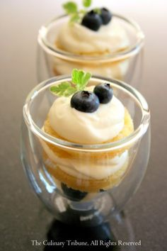 Ginger Trifle with Blueberries