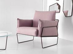 Sillón tapizado de tela GEMMA | Sillón - Altinox Minimal Design