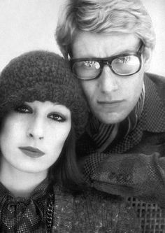♔ Anjelica and Yves Saint Laurent ~ by David Bailey