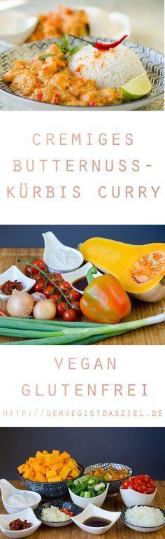 Rezept, Curry, einfach, vegan, glutenfrei, Butternusskürbis
