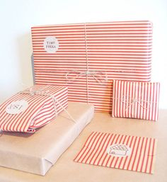 stripe wrapping paper. #celebrateeveryday