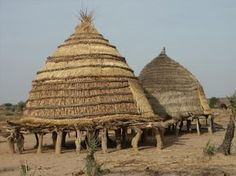 Africa   Traditional granaries.  southern Niger   ©Peter Stong