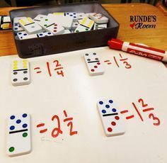 5 Hands-On Activities for Teaching Fractions that your Students will LOVE! 5 Hands-On Activities for Teaching Fractions that your Students will LOVE! Teaching Fractions, Math Fractions, Teaching Math, Equivalent Fractions, Math Math, Simplifying Fractions, Dividing Fractions, Multiplication Dice Games, Decimal Games