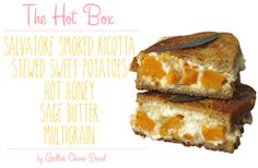 The Hot Box – Ricotta, Stewed Sweet Potatoes and Hot Honey Grilled Cheese   Grilled Cheese Social