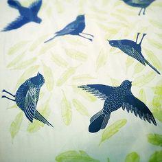 Cream Bird Scarf | by bonbiforest