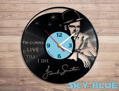 Amazon.com: Frank Sinatra music vinyl record wall clock: Home & Kitchen