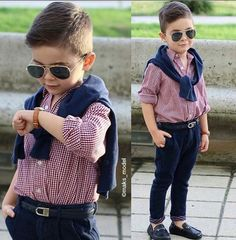 Image in outfit 👛👜👗 collection by Rayan ✿ on We Heart It Young Boys Fashion, Toddler Boy Fashion, Little Boy Fashion, Toddler Boy Outfits, Children Outfits, Toddler Boy Haircuts, Outfits Niños, Cute Little Boys, Little Boy Outfits