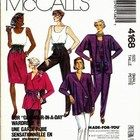 McCall's 4168 Sewing pattern for Glamour in a Day Wardrobe: unlined jacket top & pull on pants Size Ex small (Uncut)