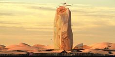 A tower as big as a city in the heart of the Sahara desert