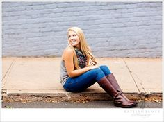 you can never go wrong with a cute pair of boots and a scarf #seniorportrait