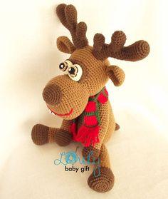 CROCHET PATTERN Deer Amigurumi Deer Pattern Christmas