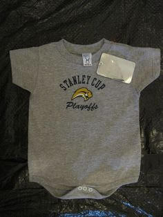 Buffalo Sabres Baby Onesie Size 18 Mos NHL Stanley Cup Playoffs Official License #RabbitSkins #BuffaloSabres