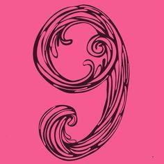 #9 ------> #verovinetypes  Listo! Es la última mañana subo la tipografía completa.  . #36daysoftype #typography #36daysoftype09 #creativehappylife #vector #drawing #dibujo #number #pink #maracaibo #venezuela by vero_jezzi
