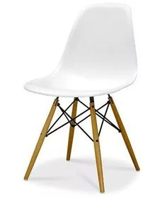 cadeira charles eames wood - design - branco - dsw