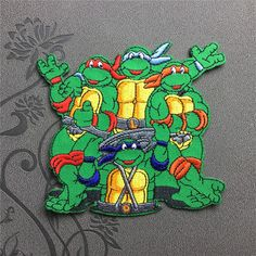 Teenage Mutant Ninja Turtles patch Individuality Hat patches Embroidered Iron On Patch sew on patch