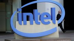 Intel Corp. signage outside the company's office in Santa Clara, Calif. Intel Corp.