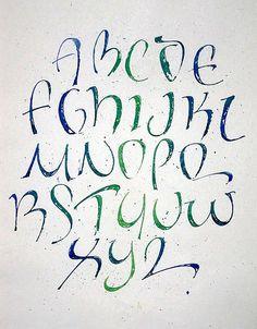 Calligraphy Fonts Alphabet on Pinterest | Font Alphabet, Calligraphy ...