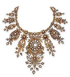 An antique diamond necklace, circa 1880. © 2002-2010 Bonhams 1793 Ltd