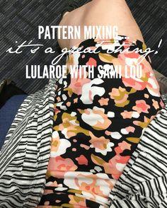 Don't be afraid to mix those patterns ladies!  #lularoe #lularoeconsultant #fashion