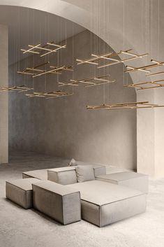 Hilow by Matteo Thun & Partners for Panzeri #architonic #nowonarchitonic #furniture #furnituredesign #interiordesign #productdesign #lamp #lighting #lampdesign #chandeliers #suspendedlamp #pendantlamp #homedecor #interiorinspiration  Suspended Lighting, Indirect Lighting, Metal Ceiling, Extruded Aluminum, Lobbies, Pendant Chandelier, Lamp Design, Chandeliers, Interior Inspiration
