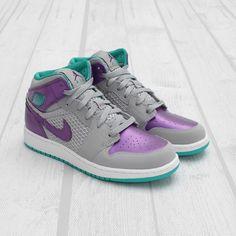 e4afdef362f Shop Women s Jordan Purple Gray size 6 Sneakers at a discounted price at  Poshmark. Description  Nike Air Jordan RETRO I WOLF GREY Girls.