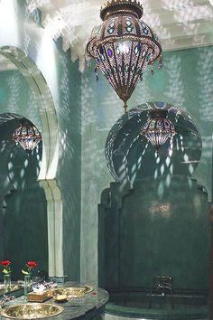 bathroom decorations bronze bathroom accessories green tadelakt bronze sinks - Bathroom decorations 38 Super Beautiful Moroccan Bathrooms That are Rea. Moroccan Design, Moroccan Decor, Moroccan Style, Moroccan Rugs, Moroccan Living Rooms, Moroccan Lighting, Design Marocain, Style Marocain, Living Room Light Fixtures