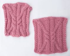 Nice post about why and how to block handknitting to check tension - Cables before and after blocking