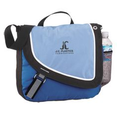 Promote your brand on this recycled Messenger Bag!