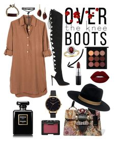 """""""Over the knee boots"""" by toughsyd ❤ liked on Polyvore featuring United by Blue, Alexandre Vauthier, Miu Miu, Chloe + Isabel, Olivia Burton, Lime Crime, MAC Cosmetics, NARS Cosmetics and Janessa Leone"""