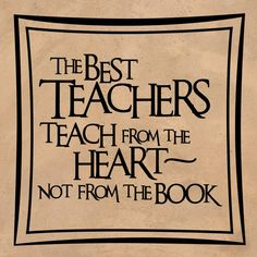 Wall Decal  The Best Teachers Teach From the by thevinylwallart, $11.99