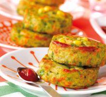 Recette - Croquettes de légumes au poulet - Notée 4.8/5 par les internautes