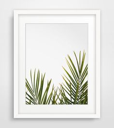 Tropical Leaf Print Green Palm Art Palm Art by MelindaWoodDesigns