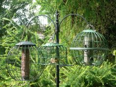 free standing squirrel-proof bird feeders