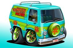 Scooby-Doo-Mystery-Van-Car-toon-Art-Print-NEW