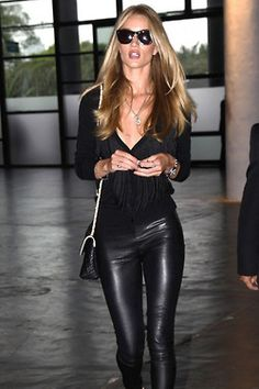 I'm not into black clothing, but this is how you do black, sheer and leather