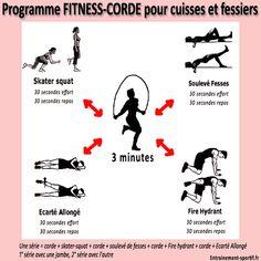 Essayez vite ces 4 exercices de fitness et du saut à la corde pour tonifier vos cuisses et vos fessiers sans prendre de volume !