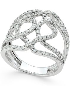 Diamond Wrapped Ring (1 ct. t.w.) in 14k White Gold