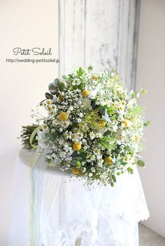 Beautiful Flower Arrangements, Floral Arrangements, Beautiful Flowers, Boquette Wedding, Yellow Wedding, Summer Wedding Bouquets, Flower Bouquet Wedding, Bouquet Champetre, Yellow Bouquets