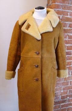 Vintage Shearling Sheepskin Coat by TheOldBagOnline on Etsy