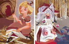 / Degree project /  Lewis Carroll - Alice in Wonderland by Zsófia Szabó, via Behance