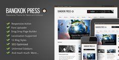 Bangkok Press - awesome News & Editorial #Wordpress #Theme $35,00