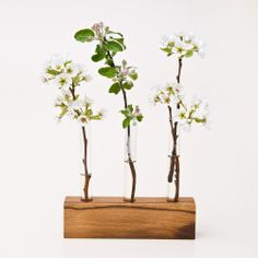 To Make: $ 67 Wood Bud Vase LITTLE VIOLET from LESS & MORE Vienna