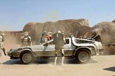 This is Not The DeLorean you are looking for! Delorean Time Machine, Michael J Fox, Bttf, Mecha Anime, Car Posters, Movie Posters, Star Wars Humor, Back To The Future, Future Car