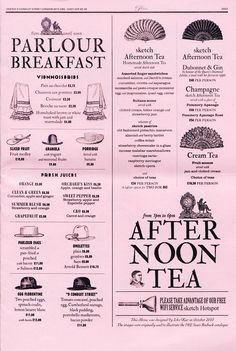 Sketch London Menu  {Study: how do the descriptions inspire me to purchase?}