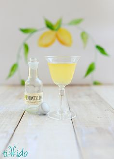 How to make homemade limoncello, a sweet Italian lemon liqueur infused with amazing lemon flavor.