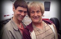 Pics! Jim Carrey and Jeff Daniels Film 'Dumb and Dumber To'