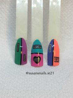 Nail art - neon abstract designs