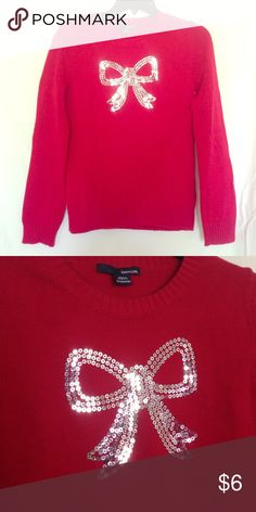 X-MAS Bow Sweater Used only once for family pictures! No rips, stains, etc. Sweaters Crew & Scoop Necks