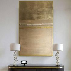 Gold Leaf Painting On Canvas Abstract Painting Original Painting THIS PAINTING IS SOLD. Your painting will be create very similar in same style, color and size.After you ordered I will start to create your painting directly.I will finish it in only 4-6 DAYS . DETAILS * Name: Gold