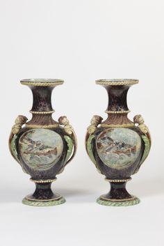 Thomas Sergent, Paire de vases, galerie vauclair #palissyware  #galerievauclair #art #paris #gallery #céramiques #ceramics